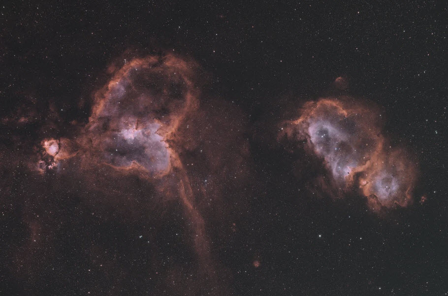 Heart and Soul Nebula with the Radian Raptor 61